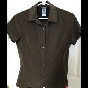The North Face Brown Vented Short Sleeve Shirt XS